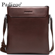 Padieoe Men Shoulder Bags Genuine Leather Briefcase Brand Men's Messenger Bag Business Casual Travel Crossbody Bag Free Ship