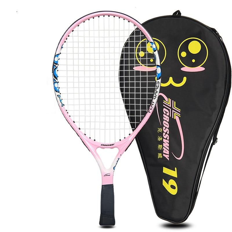 Теннисные ракетки детская Профессиональная теннисная ракетка спортивной подготовки Raquete с мешком для детей (0 4years)
