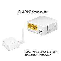 GL-AR150 AR9331 스마트 와이파이 무선 Router150Mbps 리피터 OPENWRT 펌웨어 외부 안테나 지원 POE 모듈