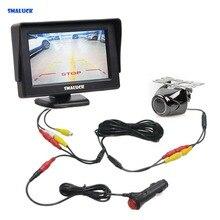 SMALUCK 4,3 «TFT ЖК-монитор автомобиля 2 видео вход + Автомобильная камера заднего вида камера безопасности система парковки реверсивная система
