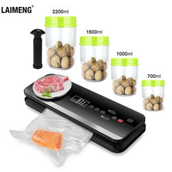 LAIMENG Automatic Vacuum Sealer for Food AS Plastic BPA Free Vacuum Container Vacuum Bags  Machine Vacuum Packer Package S220