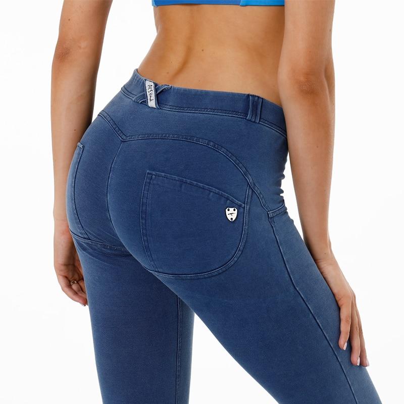 2018 Fashion Low Waist   Jeans   Woman Skinny Push Up   Jeans   Slim Denim Pencil Pants Stretch Female Plus Size Sexy   Jeans   Pants