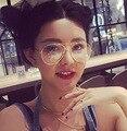 Nueva Tendencia de La Moda Clásica Marco de Aleación de Gafas De Diseño Del Marco Hombres Mujeres Gafas Ópticas Gafas de Piloto Oculos Montura de Gafas
