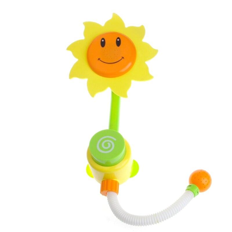 Children Baby Bath Toys Sunflower Bath Water Faucet Shower Gift