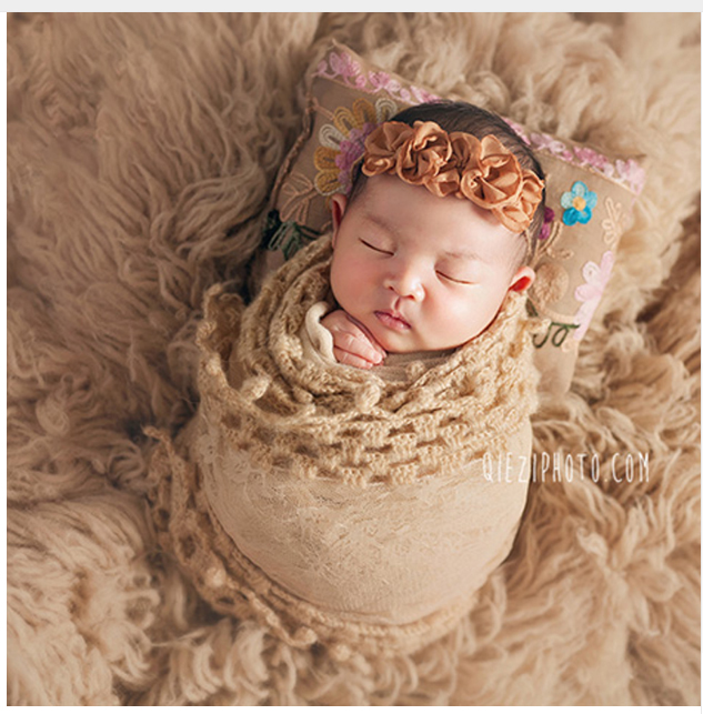 Baby photo props baby embroidered pillow pose positioning pillow newborn studio photo props accessories 2
