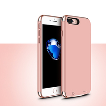 2016 Newest External Battery Portable Charger Power Bank Cover Case For iphone 7 7 plus Backup Charger Power Bank Battery case