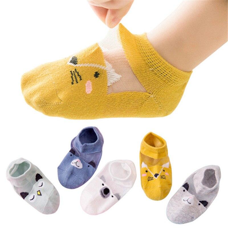Für Kinder Socken Cn Kleinkind Niedlich Cartoon Student Sport Socken 5 Paare/los Frühling Sommer Kinder Baumwolle Socken Junge Baby Mädchen