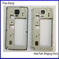 Original Middle Frame Plate Bezel For Samsung galaxy Note 4  N910F N910V N910c Housing Cover +Camera Glass+Buttons
