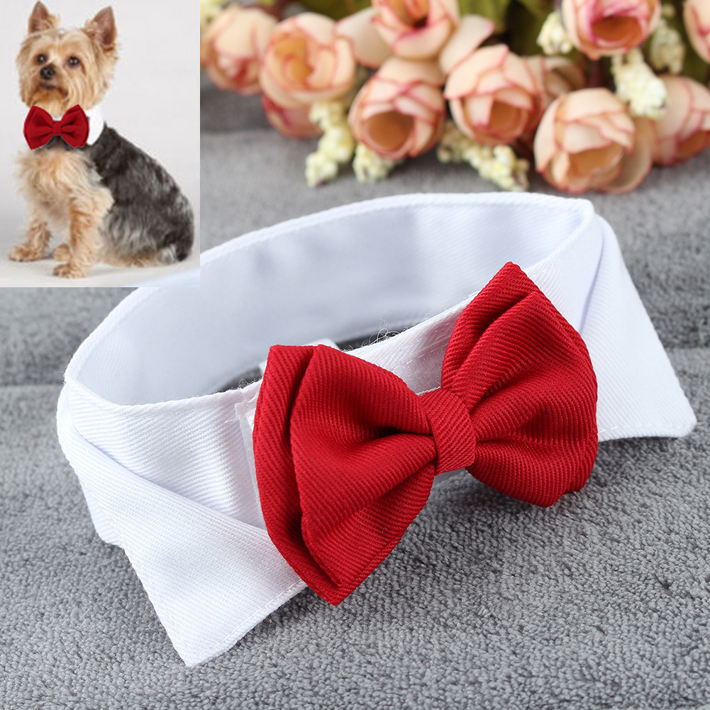 Pet Puppy Kitten Dogs Cat Adjustable Bow Tie Collar Necktie Bowknot Decor Bowtie Holiday Wedding Life Decoration Accessories