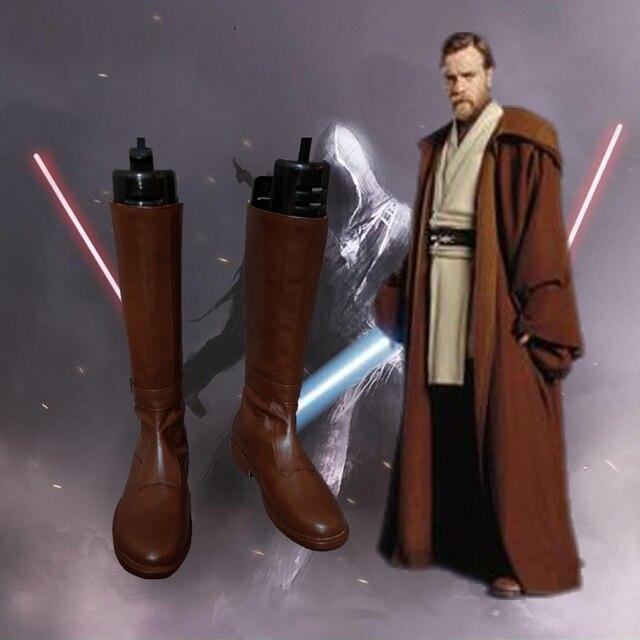 Star Wars Obi-Wan Kenobi Cosplay çizmeler ayakkabı Anime parti Cosplay Darth Maul yetişkin erkekler giymek ısmarlama ayakkabı yüksek topuk ayakkabı