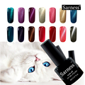 sarness New brand gel Varnish Lucky 3D Magnetic Cat Eyes Nail Gel Polish LEd Gel Nail Varnish UV soak off Gel Nail Art