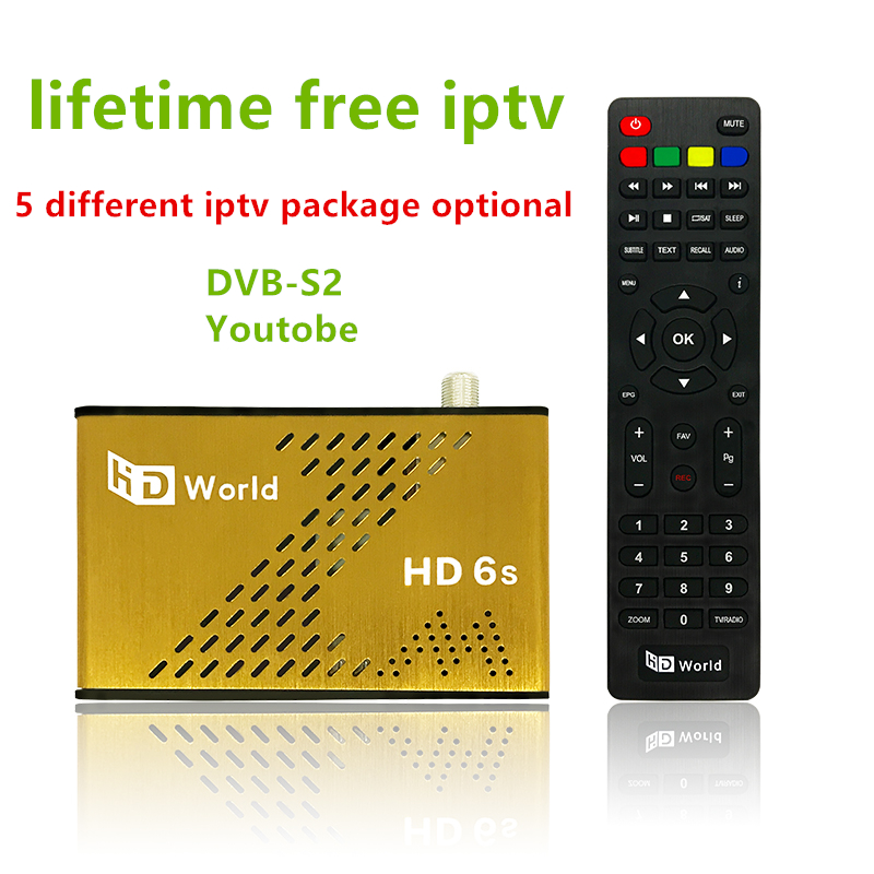 цена на Lifetime Free IPTV HDWorld F6 Satellite Receiver Pakistan Arabic IPTV 1000+ PayTV Channel+ Free Eternally KO Great Bee TV Box
