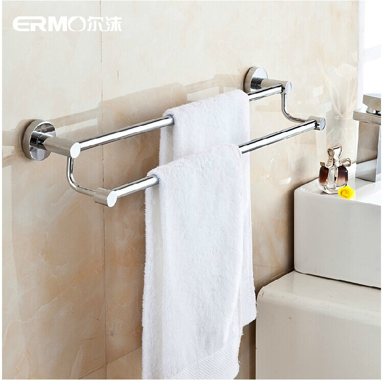52CM Top Quality Stainless Steel Towel Rack Shelf Double