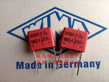 2019 hot sale 10pcs/20pcs Germany WIMA MKS4 1UF 1.0UF 250V 105 P: 15mm Audio capacitor free shipping