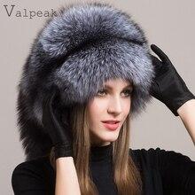 Valpeak invierno de las mujeres sombrero de piel Real Integral Fox sombreros  de piel ruso mongol para mujer sombreros de piel 28ec5cb9fb38