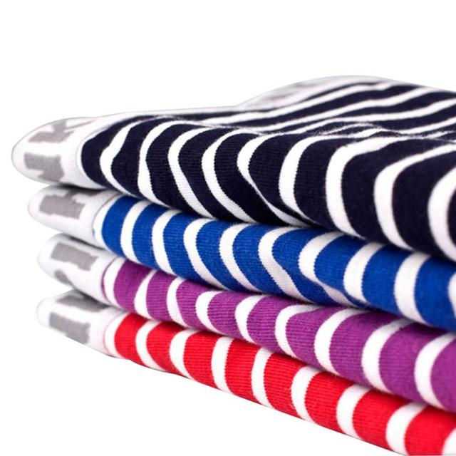 Mens Casual Comfortable Striped Boxer Briefs
