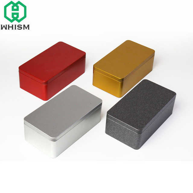 WHISM Iron Storage Box Bin Metal Tea Caddy Candy Container Tea Bag