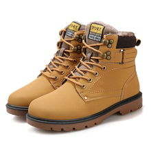 Men's Boots Fashion Super Warm Winter Shoes Outdoor Men Boots Casual Brand Snow Boots Keep Warm Ankle Boots Botas Size 39-46