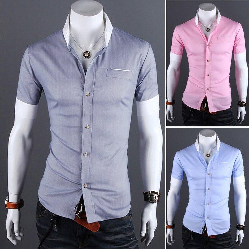 High Quality Brand men's clothing Mens Slim fit Unique ...