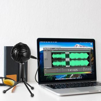 USB Wired Condenser Condenser Microphone for Computer Home Studio, Skype, iChat or Voice Recognition Software tabletop Microfono