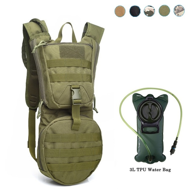 3l Outdoor Backpack Military Tactical Hydration Molle Pouch Cycling Camping Camelback Hiking Camel Bag Water