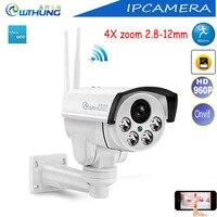 Yoose Sans Fil PTZ IP Caméra Wifi 4X mise au point Automatique 2.8-12mm HD 960 P 1.3MP Soutien Onvif SD Carte Détecteur de Mouvement Pour La Sécurité CCTV