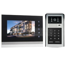 DIYSECUR 7 inch Touch Button Video Door Phone Intercom Doorbell IR Night Vision HD 300000 Pixels Camera