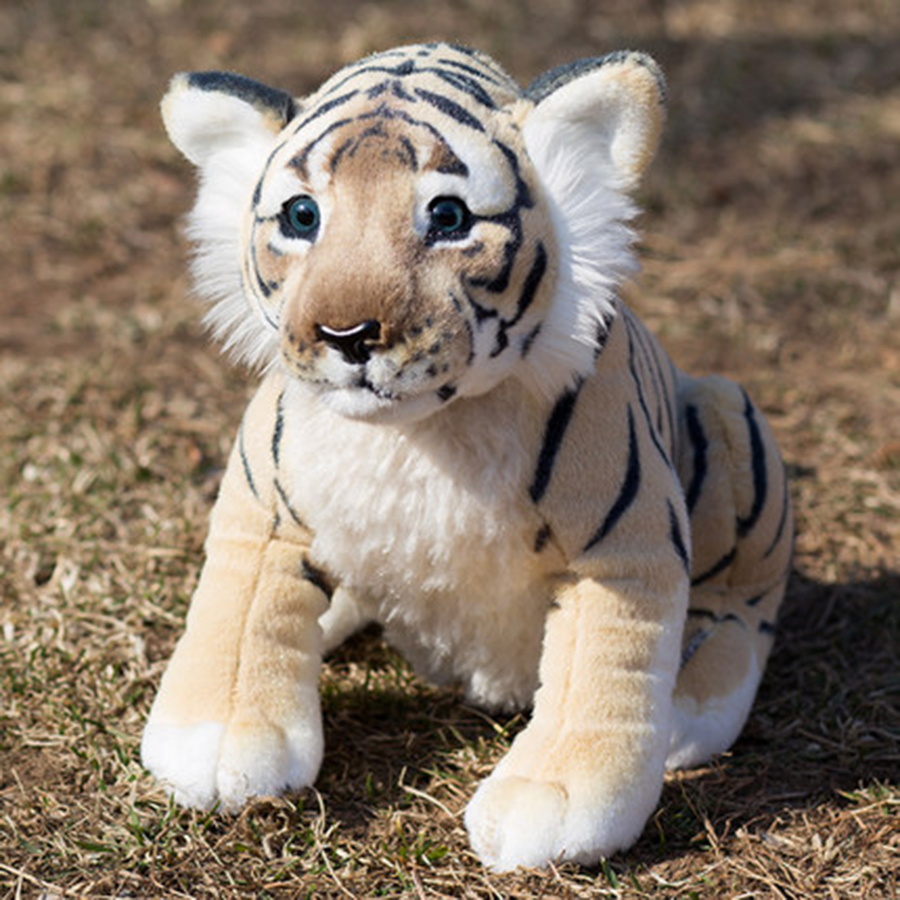 50cm 60cm Big Cute Kawaii Plush Tiger Toy Doll Soft Stuffed Animals Simulaton Animal Toys Dolls Toys For Children Gifts 50T0545 little cute flocking doll toys kawaii mini cats decoration toys for girls little exquisite dolls best christmas gifts for girls