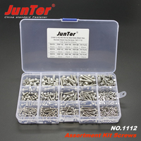 520pcs M2 M3 M4 A2 Stainless Steel DIN912 Allen Bolts Hex Socket Head Cap Screws With Nuts Assortment Kit NO.1112