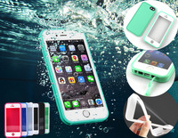 Waterproof Soft Case For Iphone 5 5s 5c Se 6 6s Plus Shockproof Hybrid TPU Rubber