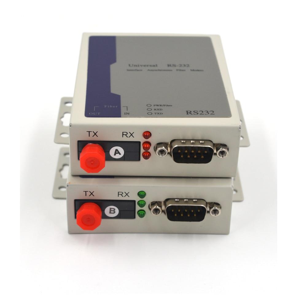 Premium Data Extenders Bidirectional RS232 Data Over Fiber Optic Meida Converters  FC Singlemode Fiber Up 20Km