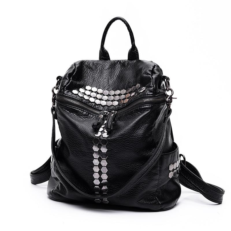 2016 New Korean Women Backpacks Fashion PU Leather Shoulder Bag Preppy Style Small Back Pack Girls