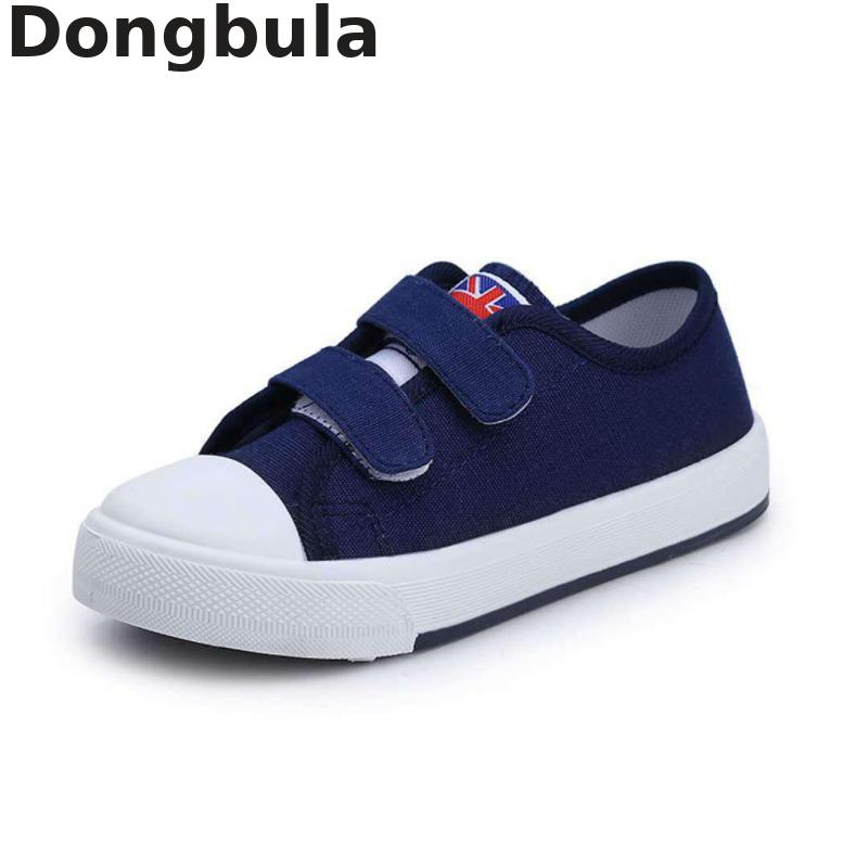 Toddler Boys Girls Canvas Sneakers Slip-on Casual Running Shoes