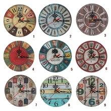 11 видов стилей Античный Декор настенные часы Домашние украшения часы потертый шик ретро часы декор для комнаты товары для дома
