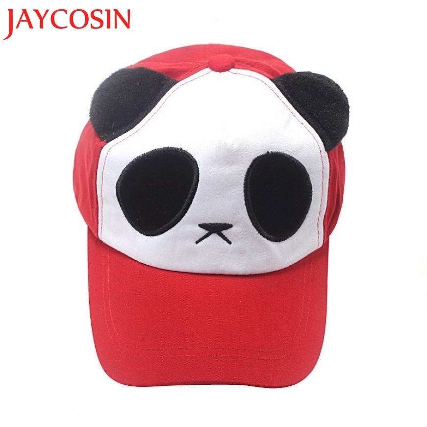 Jaycosin Новинка весны 2017 года модная детская Обувь для мальчиков Обувь для девочек хлопок милые панды Бейсбол Кепки шляпа Прямая доставка 906