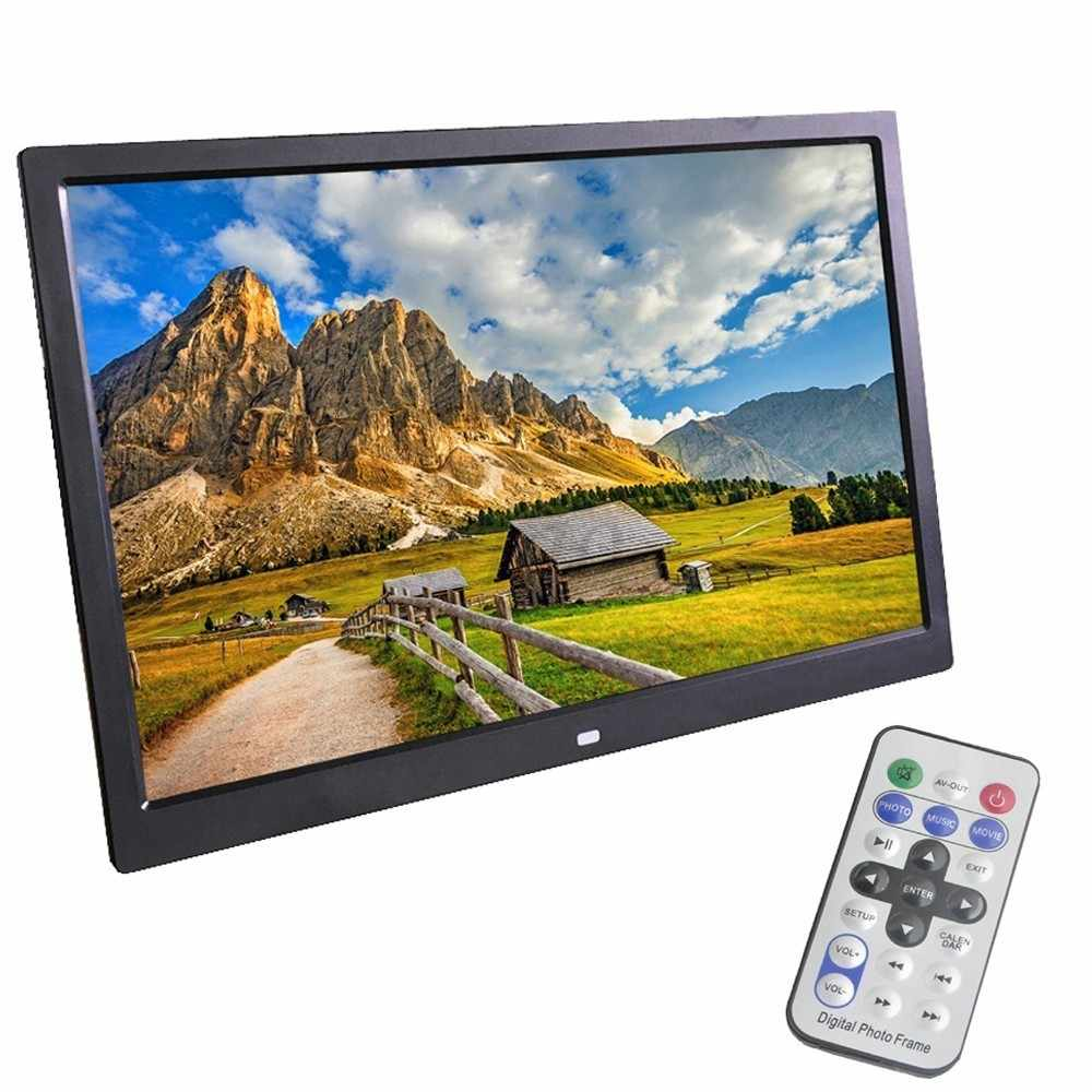12 Inch Digital Photo Frame Built-in Battery HD 1280 X 800 LED Backlight Electronic Album Picture Music Video Good Gift