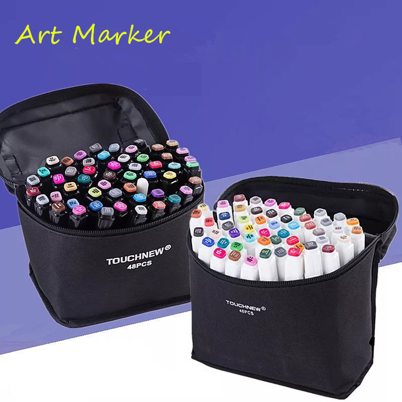 Touchfive Art Markers Set  Sketch Markers Pen Dual Head Copic Manga Drawing Markers Students Design School Supplies Art Marker touchnew 60 colors artist dual head sketch markers for manga marker school drawing marker pen design supplies 5type