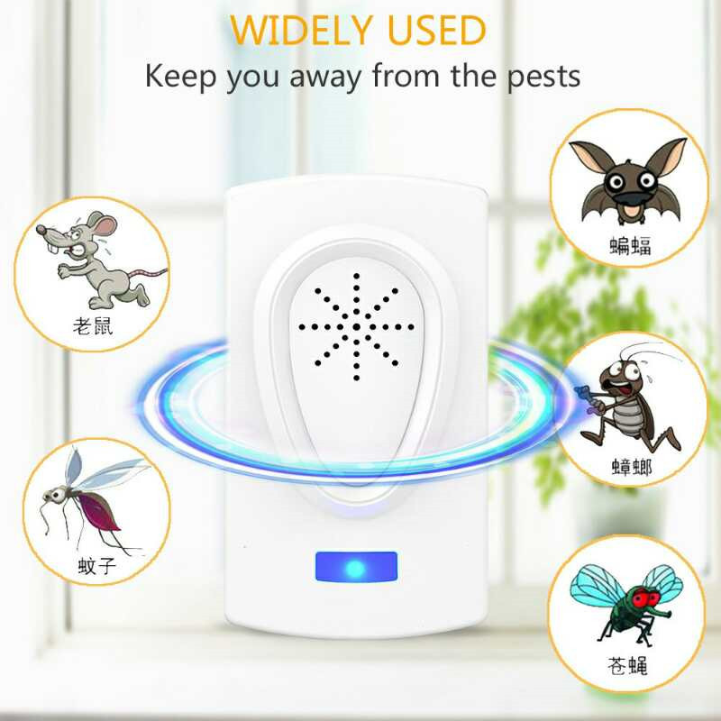 2019 Ultrasound Mouse Mosquito Killer Cockroach Repeller Device Insect Rats Spiders Pest Control Household Pest Rejecter A