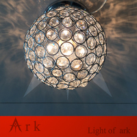 Meetinglight Luxurious Modern Fashion Romantic Led Crystal Ball Ceiling Light Fixture For Hall