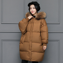 hzf 2017 New Brand Clothing Women Winter Parka Womens Long Thick Wadded Jacket Female Warm Hooded Overcoat Plus size