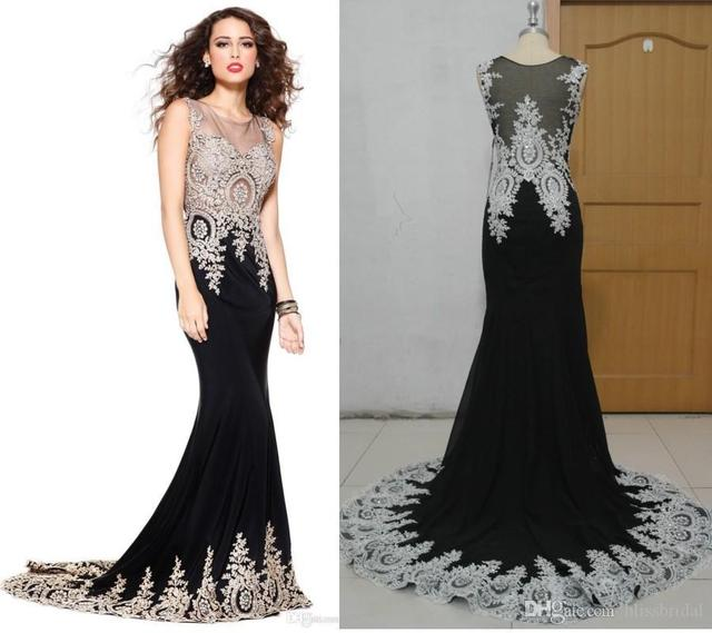 079fc50317 2015 Luxury Real Sexy Formal Evening Prom Dresses Sheer Back Appliques  Celebrity Pageant Wedding Party Dress India Arabic 2015