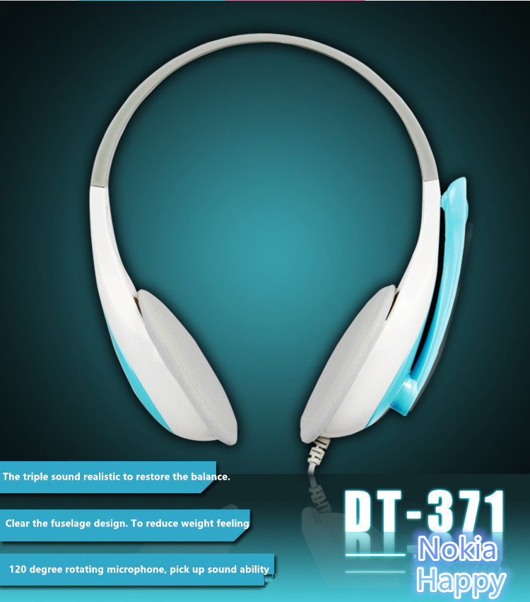 Danyin dt 371 computer earphones voice headset belt