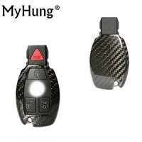 New Car Accessories Key Cover Carbon Fiber Case Shell Key Bag Car Styling For Mercedes Benz C E CLA220 E260L GLK GLA CLS C200L|car key shell case|style bag|style cover -
