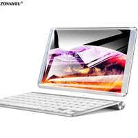 Novo Sistema de 10.1 polegada Tablet PC 3G/4G Phone Call Android 8.0 Wi-Fi Bluetooth 4 GB/ 64GB Octa Núcleo Dual SIM GPS Suporte PC + teclado