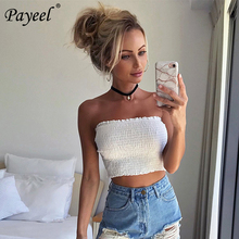 Women Crop Tube Top Summer Sexy Strapless Wrap Tops Elastic Boob Bandeau Bra Solid Top Off Shoulder Lady Without Straps Bustier недорого