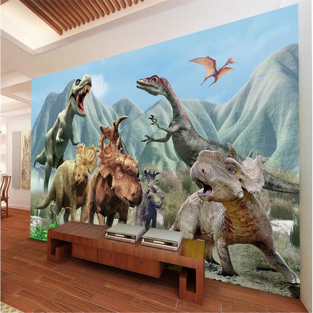 Beibehang 3d Papier Peint Hd Jurassic Dinosaure L Hegemonie A