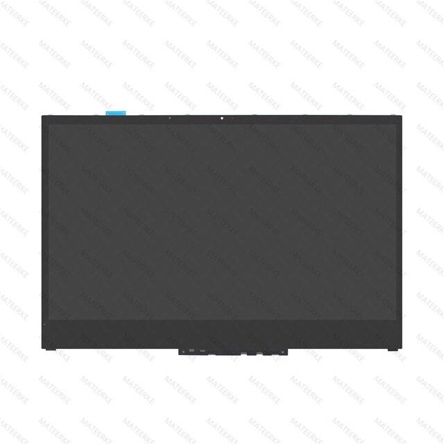 """15.6 """"LCD LED תצוגת מסך מגע Digitizer + הלוח הקדמי עבור Lenovo יוגה 730 15IKB 81CU יוגה 730 15IWL 81JS NV156QUM N51 N156HCE EN1"""
