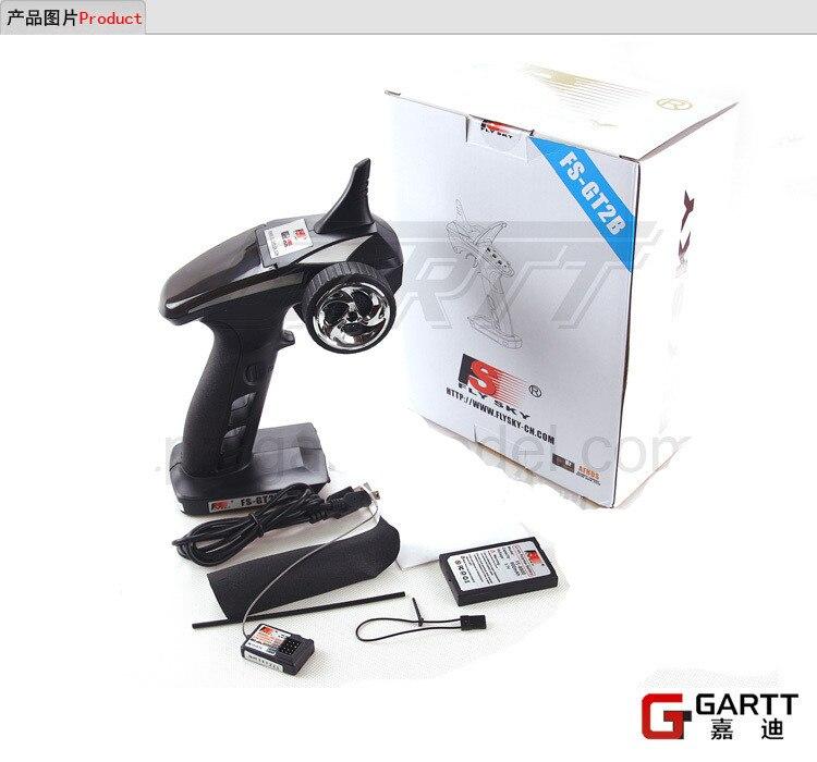 Livraison gratuite Flysky FS GT2B FS-GT2B 2.4g 3CH Gun Controller Emetteur Récepteur TX Batterie USB Câble Pour RC Voiture Bateau
