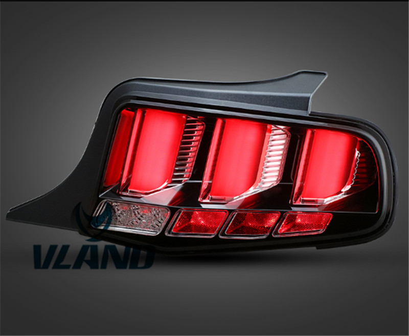 Free Shipping for Vland Car Lamp LED Taillight for Ford Mustang Led Tail Light LED Light Bar DRL Plug and Play Year 2010-2012 motorcycle tail tidy fender eliminator registration license plate holder bracket led light for ducati panigale 899 free shipping