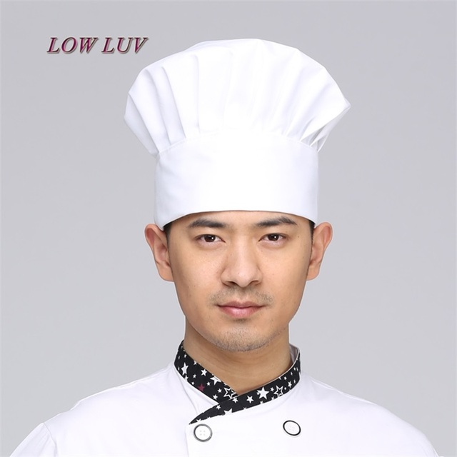 Cooking Cap Cafe Restaurant Working Cap Working Cap Chef Hat Cloth Plaid  Striped 5f160394493